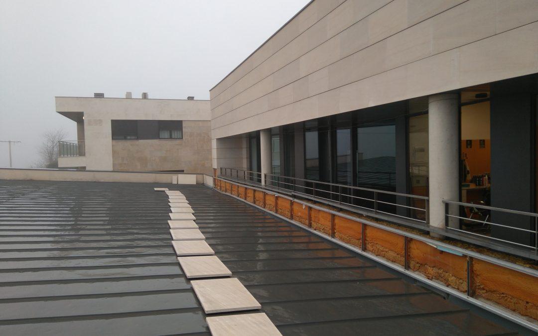 Reparación de la fachada del Hogar de personas mayores de Calahorra