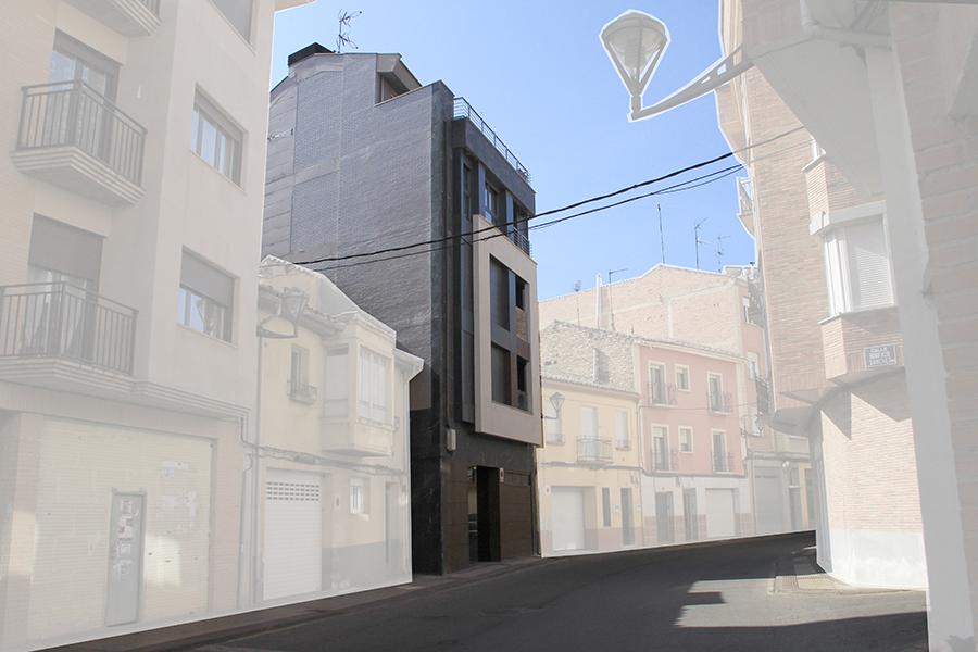 Edificación de 4 viviendas dúplex con sistema de calefacción por geotermia